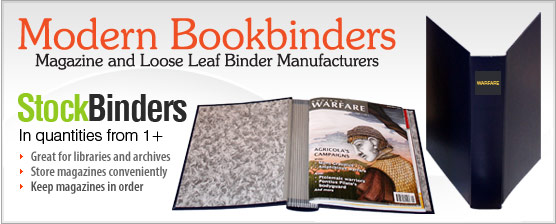 Stock binders from Modern Bookbinders